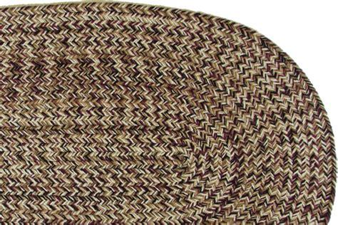 classic light tweed braided rug
