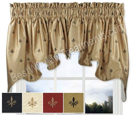 Fleur De Lis Kitchen Curtains Fleur De Lis Duchess Swag Window Topper