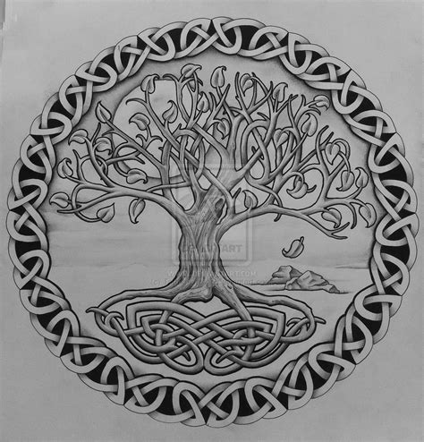 celtic tree of life tattoo design deviantart more like tree of with rocks by