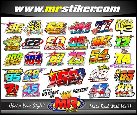 Sticker Striping Beat Fi Race desain nomor start stiker motor striping motor suka