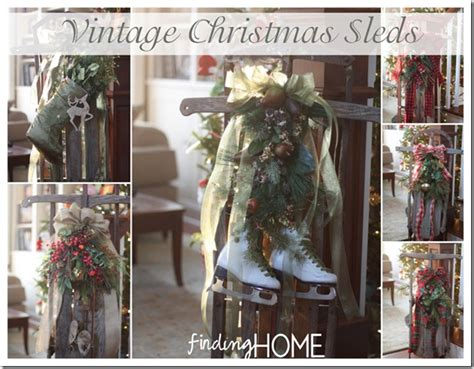 how to decorate sled vintage sleds finding home farms