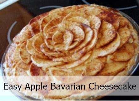 bavarian apple cheesecake mommy moment