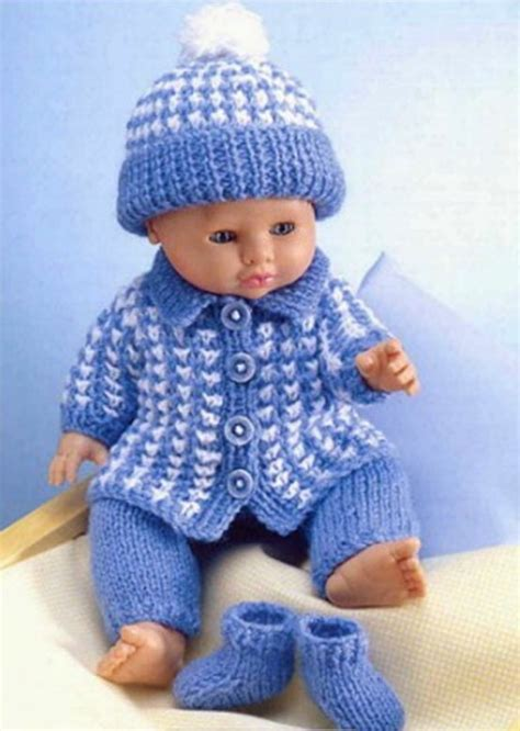 knitting pattern clothes doll clothes dk knitting pattern 99p