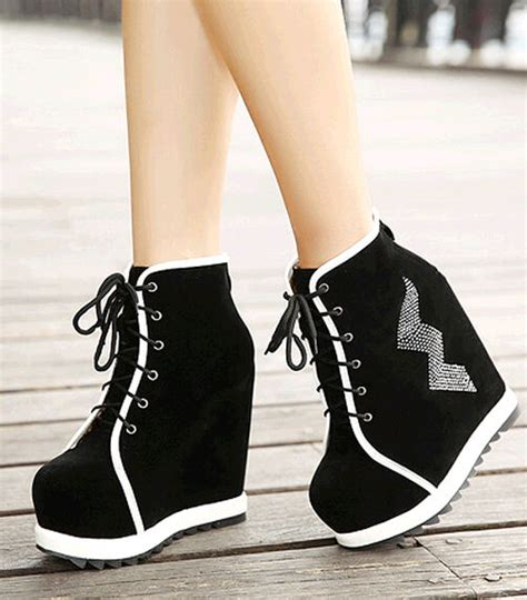 Boots Wedges Fashion Sandal High Heels Flat Shoes Murah new fashion womens lace up ankle boots high wedge platform shoes mix colors ebay