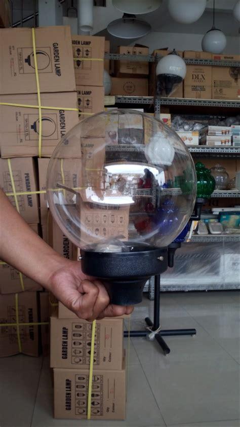 jual lampu taman bulat bening diameter cm  lapak dlx