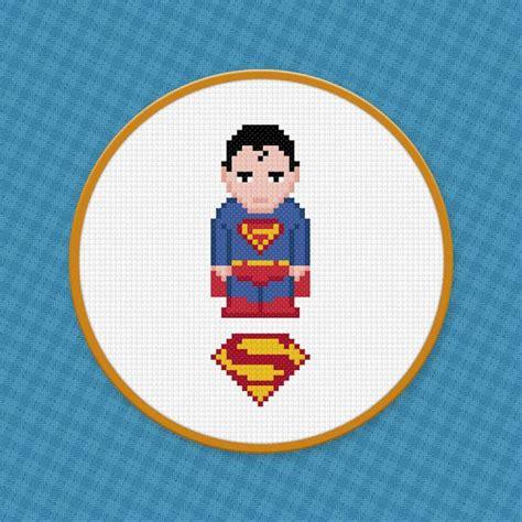 cross stitch pattern superman logo superman cross stitch pdf pattern download