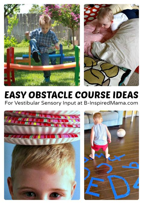 Easy Backyard Obstacle Course by Easy Obstacle Course Ideas 6 Days Of Sensory Play