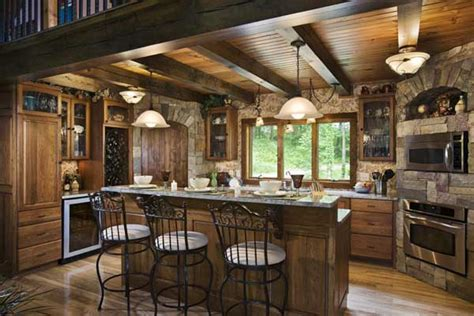 log home kitchen designs a doors inspires a woodsy log home