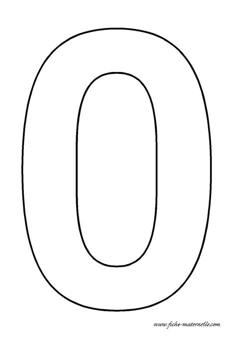 Number 0 Coloring Page by Best Photos Of Number Zero Template Printable Number 0