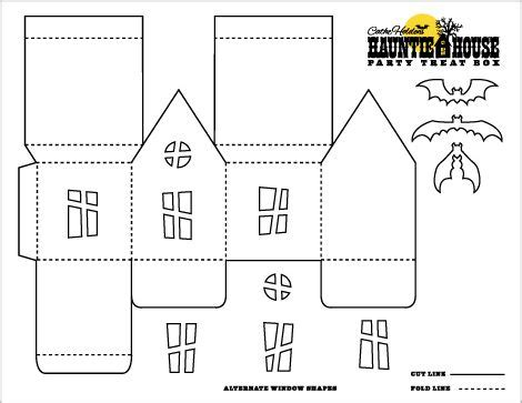 Card Stock House Templates haunted house template box