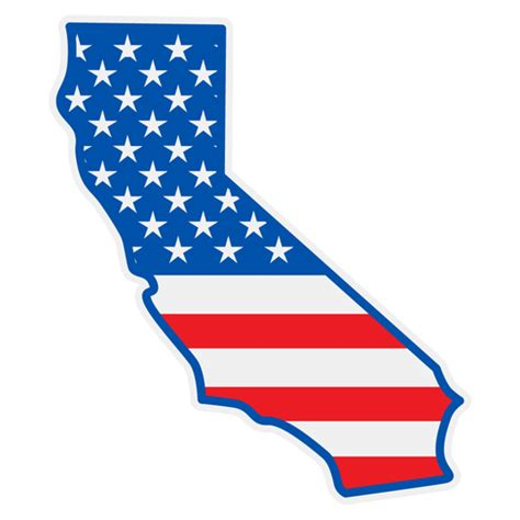 Us State Flag Outlines by Us Flag On California Outline Decal