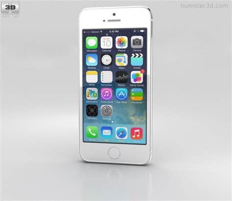 3 iphone models apple iphone 5s silver white 3d model hum3d