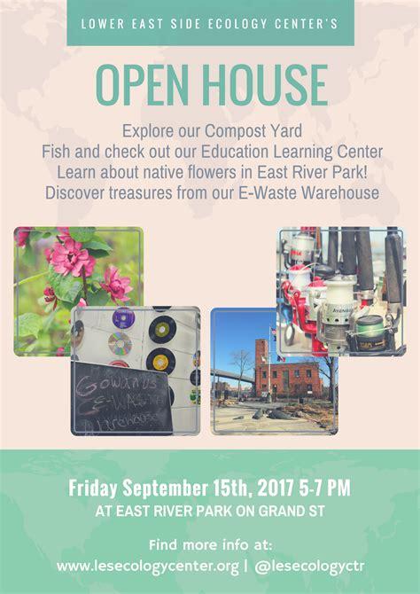 east side ecology center open house september
