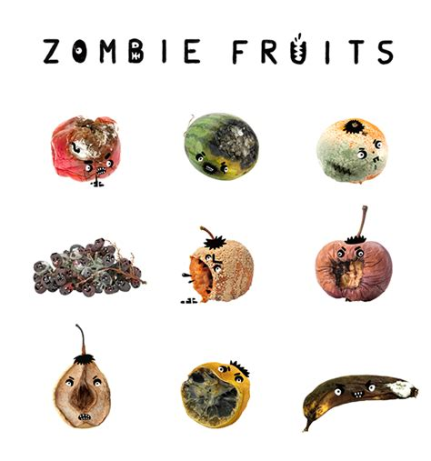 fruit zombies fruits on behance
