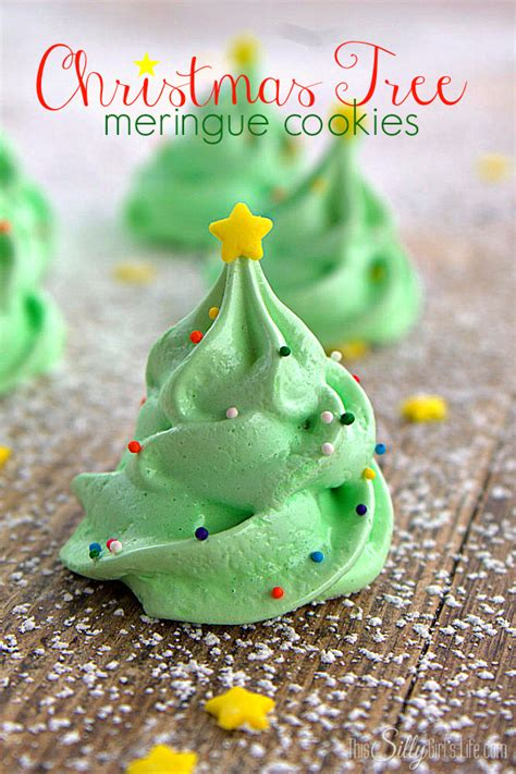christmas tree meringue cookies this silly girl s kitchen