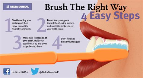 how to brush your s teeth delta dental of arkansas