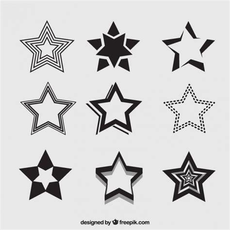 imagenes para dibujar a lapiz estrellas variedad de estrellas negras descargar vectores premium