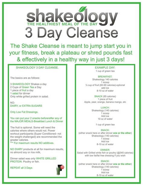 21 Day Detox Challenge Reviews by Shakeology Cleanse Review Beachbody