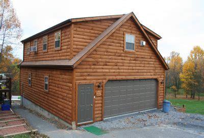 log siding garage kits log cabin garages choose a log garage to match your log