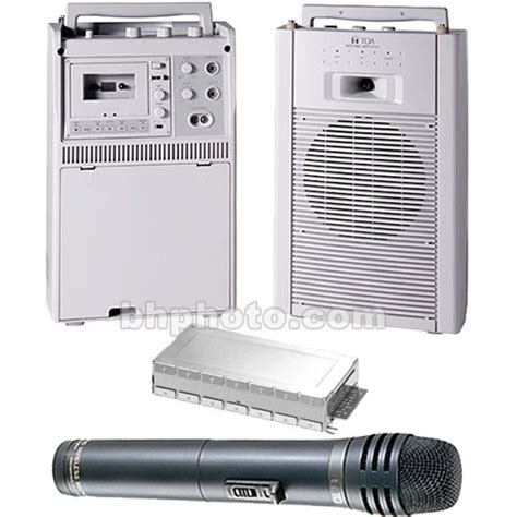 Speaker Portable Wireless Meeting Krezt Was 8412 B 12 Inch toa electronics wa1822c portable wireless meeting 1822c4220 b h