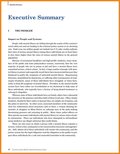 11 executive summary exles model resumed
