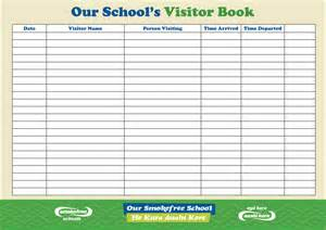 visitor log template 28 visitor sign in log template sle visitors log