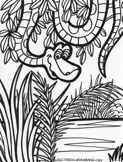 jungle landscape coloring pages jungle scene coloring pages coloring home
