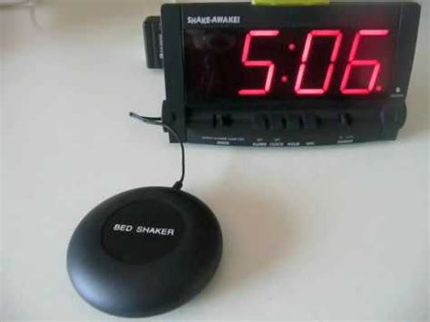bed shaker alarm bed shaker alarm clock youtube