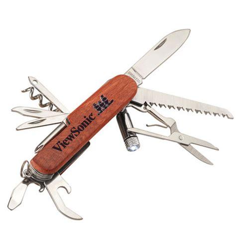 wooden pocket knife wooden 13 function pocket knife engraved with logo