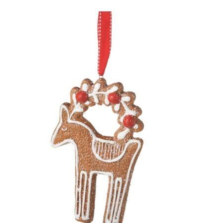 gingerbread ornament out of brown paper midwest 5 quot gingerbread kisses reindeer sugared cookie ornament brown walmart