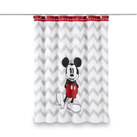 Mickey Mouse Bathroom Ideas disney mickey mouse shower curtain chevron