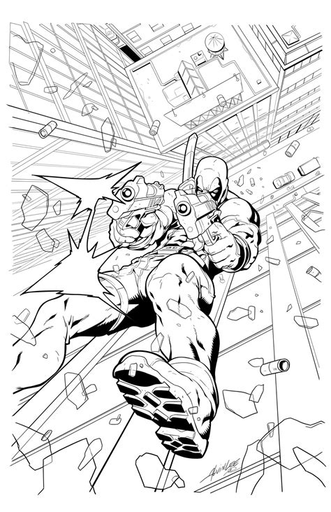 free coloring pages of baby deadpool