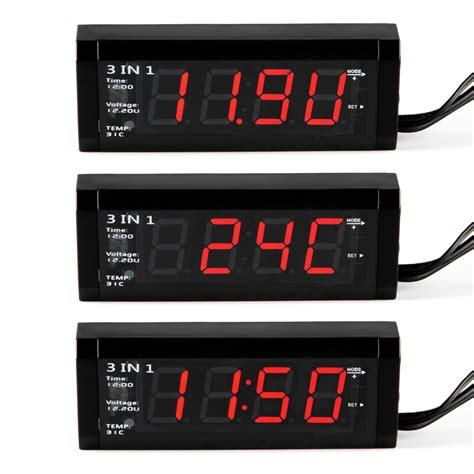 Multi Digital Display Meter Clock Date Thermometer Voltmeter 12v car alternated display digital led voltmeter clock thermometer ma1006 ebay