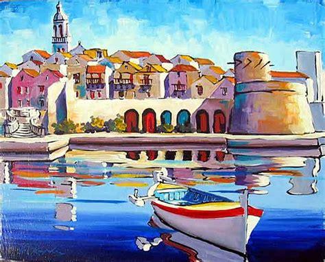 Painting G With A Twist by Hrvoje Lorenzo Kapelina Painter Korcula Croatia