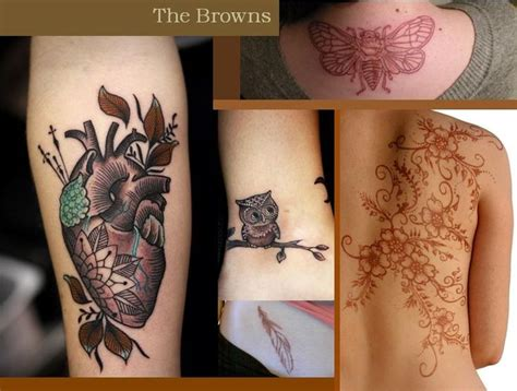 tattoo color generator brown color scheme tattoos think ink pinterest