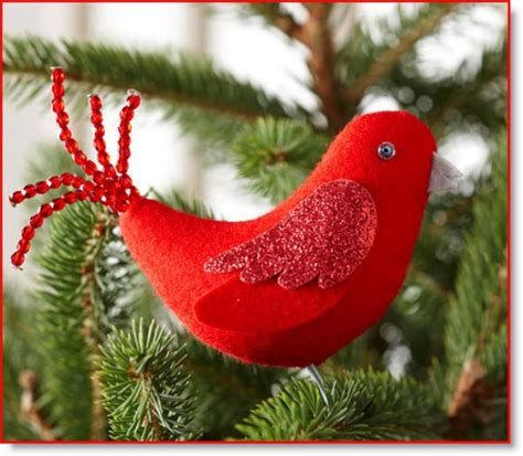 red bird felt ornament for christmas tutorial felting