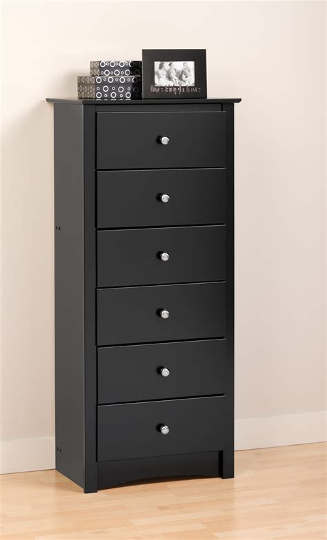 Upright Dresser prepac sonoma black 23 inch 6 drawer chest beyond stores