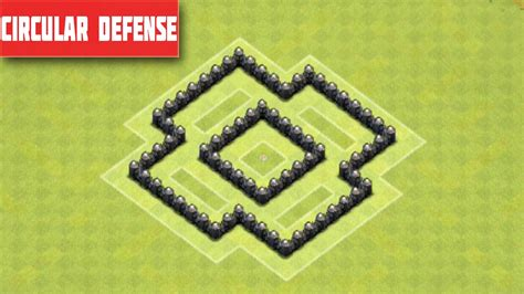layout coc town hall 4 clash of clans town hall 4 defense best coc th4 trophy