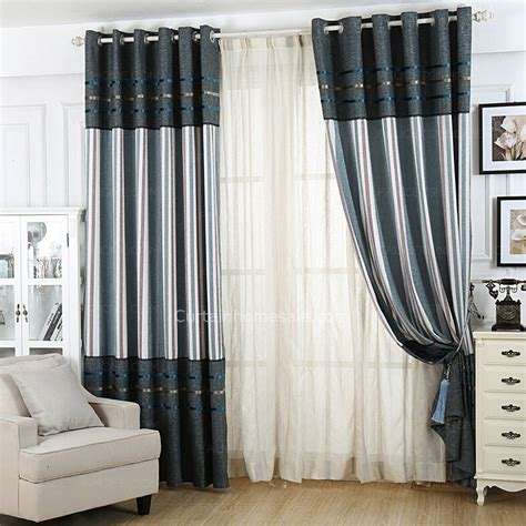 Simple Modern Curtains Inspiration Heavy Drape Simple Modern Curtains Stripe Pattern