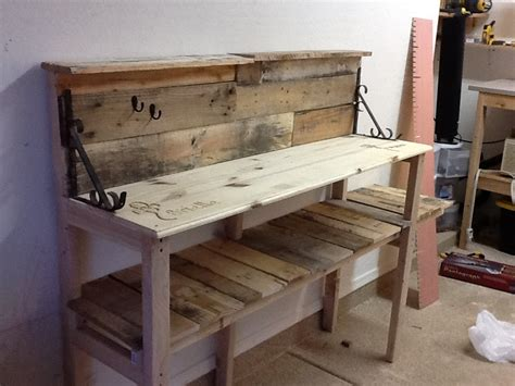 diy pallet wood potting bench youtube