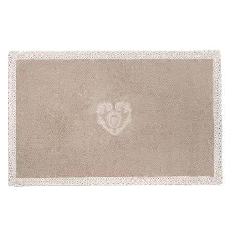 tappeto ingresso tappeto da bagno beige in cotone x cm camille with