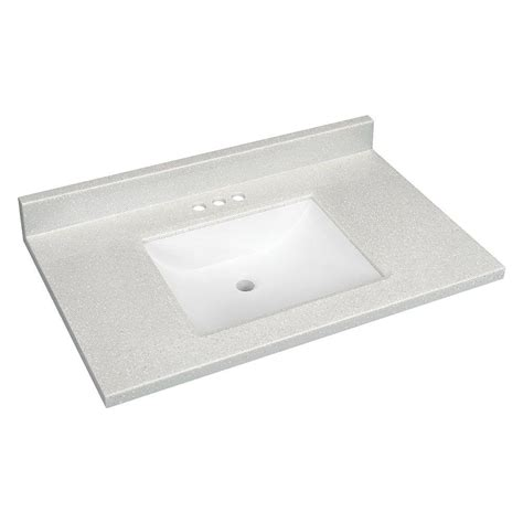 Solid Surface Technology Glacier Bay 37 In W Solid Surface Technology Vanity Top