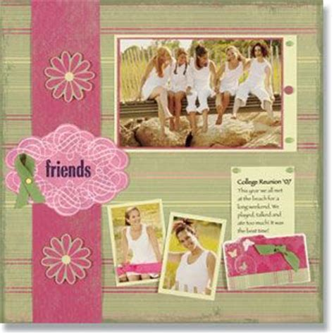 scrapbook layout for friends pin by lisa chute on scrapbooking pinterest