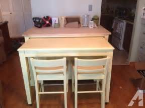 Kitchen Island With Seating For Sale Kitchen Island Table With Chairs For Sale In Pittsburgh Pennsylvania Classified