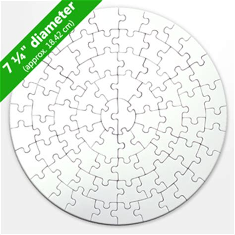Round Blank Puzzles 72 Pieces Circular Jigsaw Puzzles