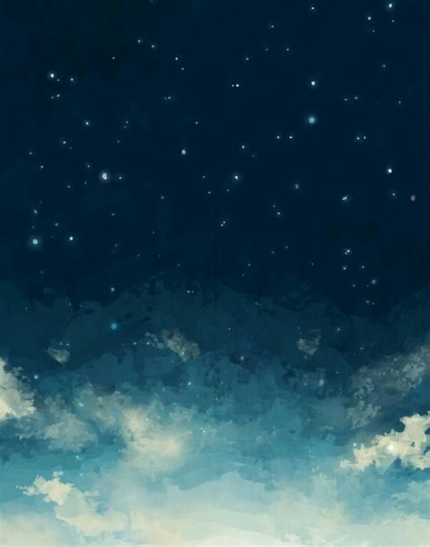 starry night sky girl anime image gallery night sky drawing