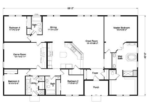 palm harbor modular home floor plans the timberridge elite 5v468t5 home floor plan