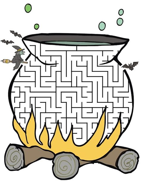 halloween coloring pages mazes 28 free printable mazes for kids and adults kitty baby love