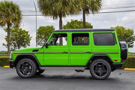 mercedes g wagon green alien green mercedes benz g63 amg exotic car list