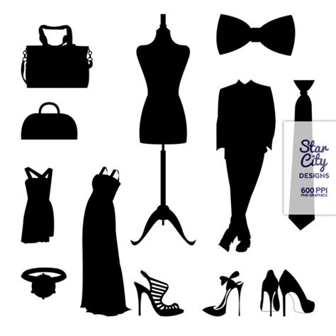 fashion clipart black white clipart fashion pencil and in color black